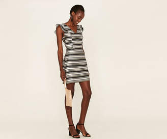 Oasis STRIPE JACQUARD DRESS