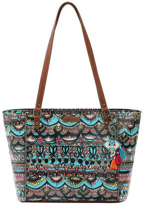 The Sak 106078AQUOW Artist Circle Double Handle Tote