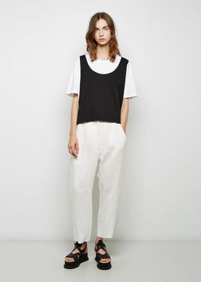 MM6 Maison Margiela Cropped Viscose Trouser $395 thestylecure.com