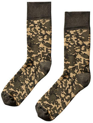 YO SOX Mens Camouflage Crew Socks