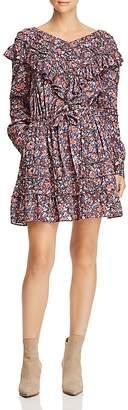 Rebecca Taylor Ruffled Floral-Print Dress