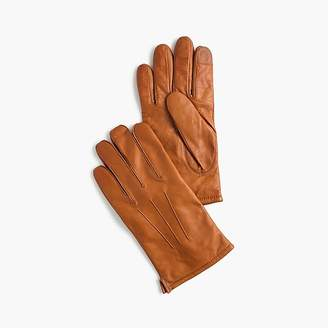 J.Crew Leather gloves with cashmere lining