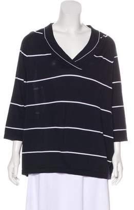 Max Mara Stripe Knit Blouse
