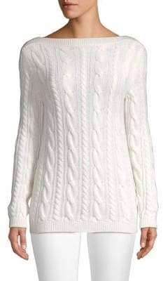 Max Mara Arles Virgin Wool& Cashmere Cable Knit Sweater