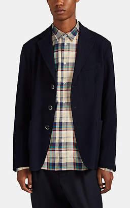 Barena Venezia Men's Unstructured Wool Three-Button Sportcoat - Navy