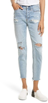 Women's Free People Lacey Stilt Embroidered Crop Jeans $128 thestylecure.com