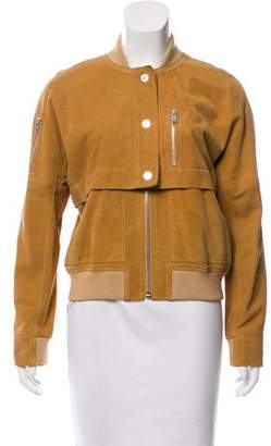 Courreges Suede Bomber Jacket