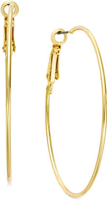 "INC International Concepts I.N.C. Large 2"" Gold Tone Wire Hoop Earrings, Created for Macy's"