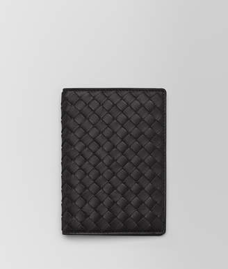Bottega Veneta NERO INTRECCIATO NAPPA PASSPORT CASE