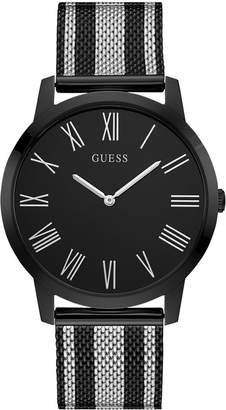 GUESS Men's Two-Tone Stainless Steel Mesh Bracelet Watch 44mm