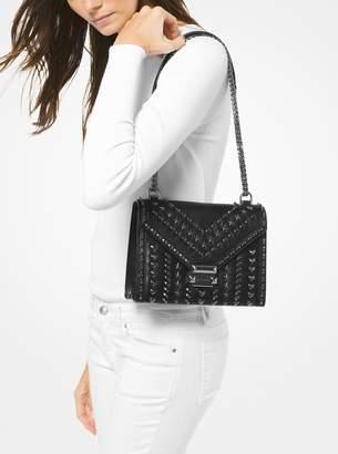544ada241e608 Michael Kors X Yang Mi Whitney Large Studded Leather Convertible Shoulder  Bag