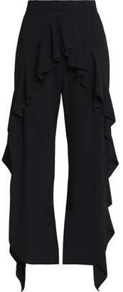Goen.j Split-Front Ruffled Crepe Pants