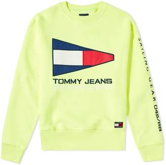 Tommy Jeans 5.0 90s Sailing Logo Neon Sweat