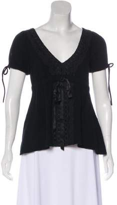 Miguelina Short Sleeve Knit Top