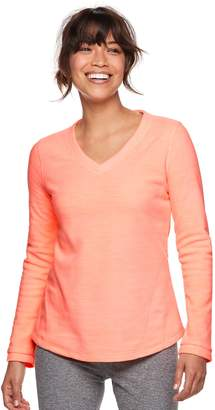 Tek Gear Petite Long Sleeve Microfleece Top