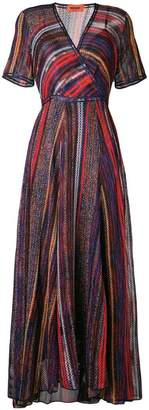 Missoni striped wrap front dress