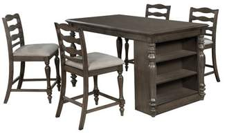 Wilson Furniture of America Rustic Gray Counter Height USB Kitchen Island Table