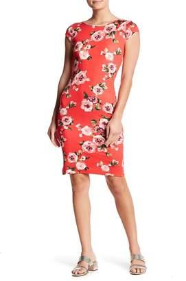 Velvet Torch Floral Cap Sleeve Dress