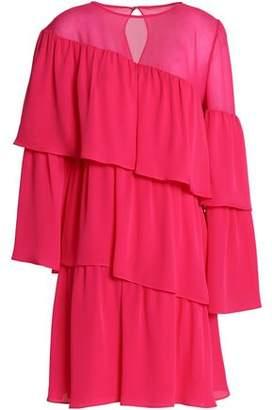 Vanessa Seward Tiered Ruffled Silk-Georgette Mini Dress