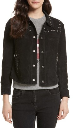 Women's Rebecca Minkoff Herring Studded Suede Jacket $698 thestylecure.com