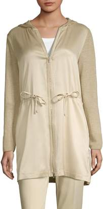 Lafayette 148 New York Hooded Contrast Cardigan