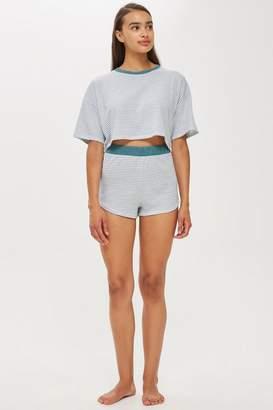 Topshop Stripe Jersey Pyjama Set