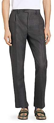 Burberry Men's Runway Wool& Mohair Trousers