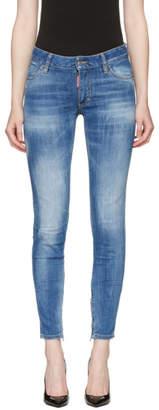 DSQUARED2 Blue Medium Waist Skinny Jeans