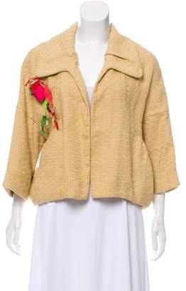 Marni Floral Appliqué Woven Jacket