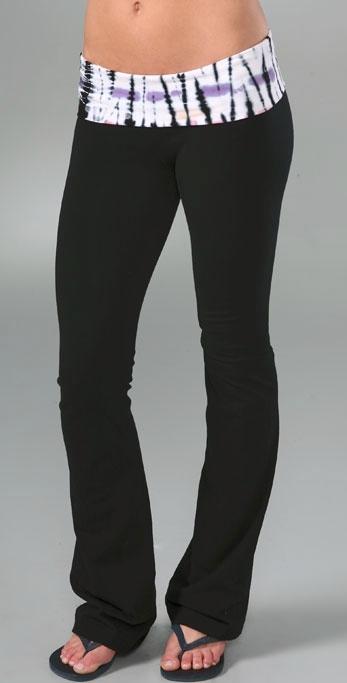 So Low Tie Dye Fold Over Pants