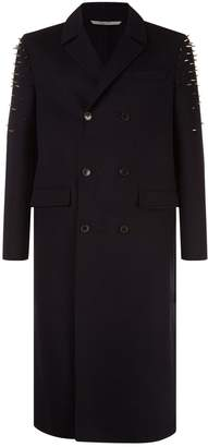 Valentino Longline Stud Embellished Coat