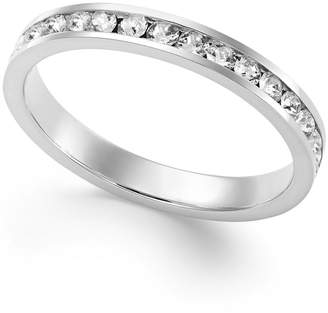 Giani Bernini Swarovski Zirconia Band in Sterling Silver or 18k Gold over Sterling Silver, Created for Macy's