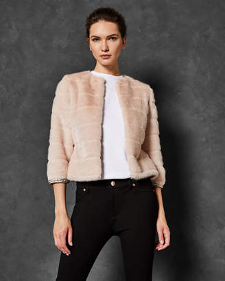 Ted Baker GILLENI Cropped faux fur jacket