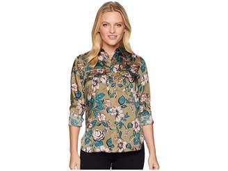 Lauren Ralph Lauren Petite Floral-Print Button-Down Shirt