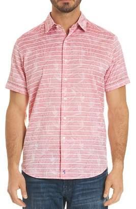 Robert Graham Machado Leaf Stripe Button-Down Shirt