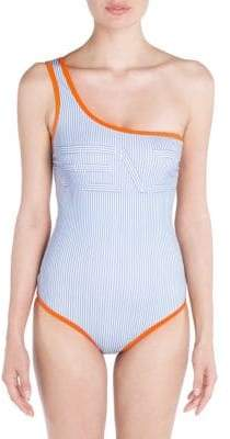 Fendi One-Shoulder One-Piece Swimsuit
