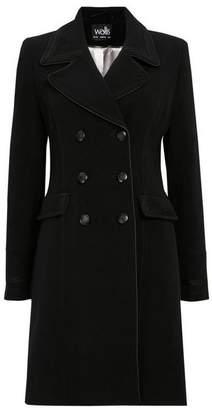 Wallis Black Military Coat