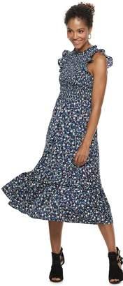 Popsugar Women's POPSUGAR Ruffle Smocked Midi Dress