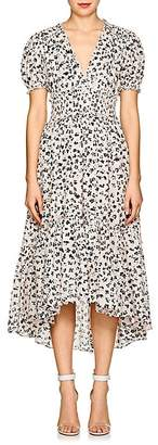 Ulla Johnson Women's Evania Floral Striped Cotton-Silk Midi-Dress