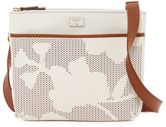 Fossil Tessa Leather Trimmed Perforated Crossbody $178 thestylecure.com