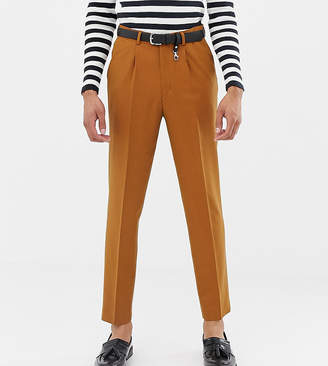 71f7d676cb7d Asos Design DESIGN Tall tapered crop smart trouser with pleats in camel