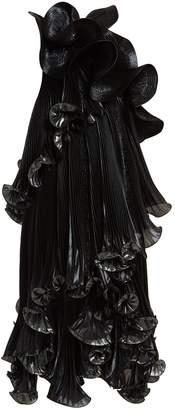 Givenchy One-shoulder ruffled Lurex silk-blend dress