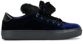 Tod's fur-trimmed sneakers