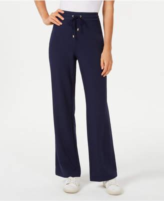 Charter Club Petite Wide-Leg Pull-On Pants