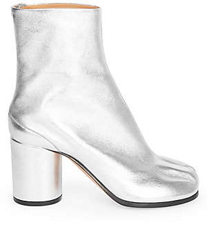 Maison Margiela Women's Metallic Split Toe Booties