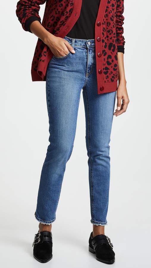 Nobody Denim True High Rise Slim Straight Ankle Jeans