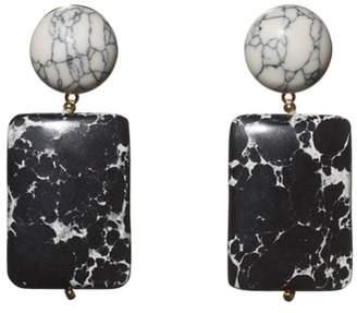 Lele Sadoughi Keepsake Stone Drop Earrings