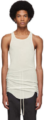 Rick Owens White Basic Rib Tank Top