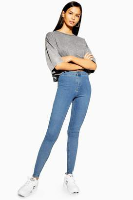 Topshop TALL Bleach Wash Joni Jeans