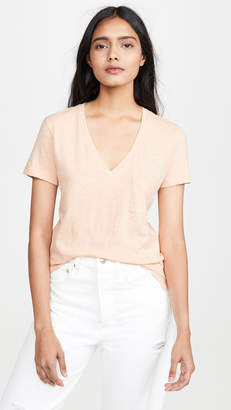 Madewell Whisper V Neck Pocket Tee